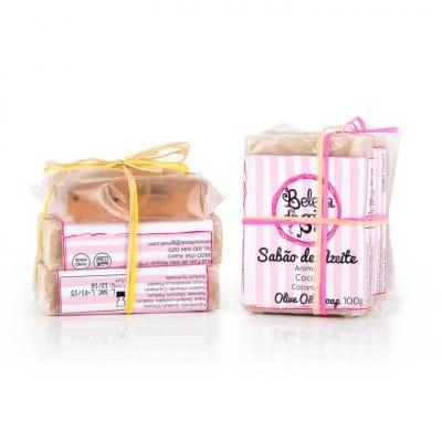 Pack de 3 Sabonetes (Azeite, Sal e Glicerina)